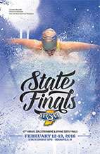 Girls Swimming and Diving State Tournament Program